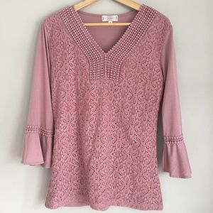 Shannon Ford New York Light pink tunic top